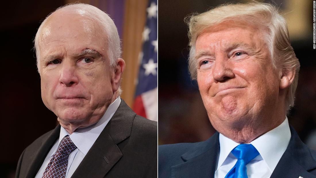 Jake Tapper tweets about Trump's treatment of McCain