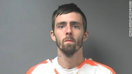 Twelve (12) inmates escaped from the Walker County Jail. Six (6) have been captured. Pictured,Brady Andrew Kilpatrick, age 24 of Cordova (in jail for Possession of Controlled Substance, Possession of Drug Paraphernalia, and Possession of Marihuana 2nd).