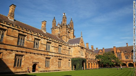 A general view of Sydney University campus on April 6, 2016.