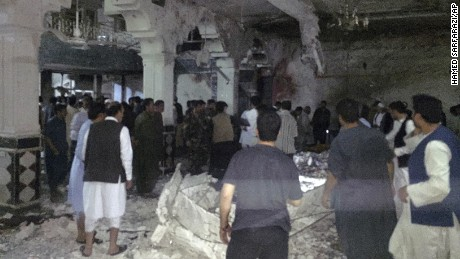 Suicide bombers killed and injured dozens Tuesday night at a Shiite mosque in Herat, Afghanistan.