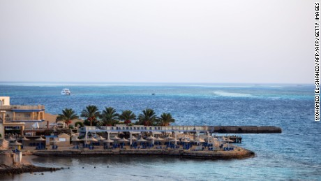 A beach is pictured July 15, 2017 in the Red Sea resort city of Hurghada, Egypt, where the previous day an Egyptian man stabbed two German tourists to death and wounded four others.  Although the attacker's motives were unclear, the stabbing will come as a blow to Egypt which has been trying to woo back tourists after years of unrest and deadly attacks. / AFP PHOTO / MOHAMED EL-SHAHED        (Photo credit should read MOHAMED EL-SHAHED/AFP/Getty Images)