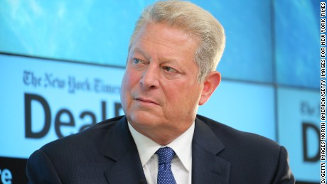 NEW YORK, NY - NOVEMBER 03:  Former Vice President Al Gore, chairman of Generation Investment Management and chairman of The Climate Reality Project, participates in a panel discussion at the New York Times 2015 DealBook Conference at the Whitney Museum of American Art on November 3, 2015 in New York City.  (Photo by Neilson Barnard/Getty Images for New York Times)