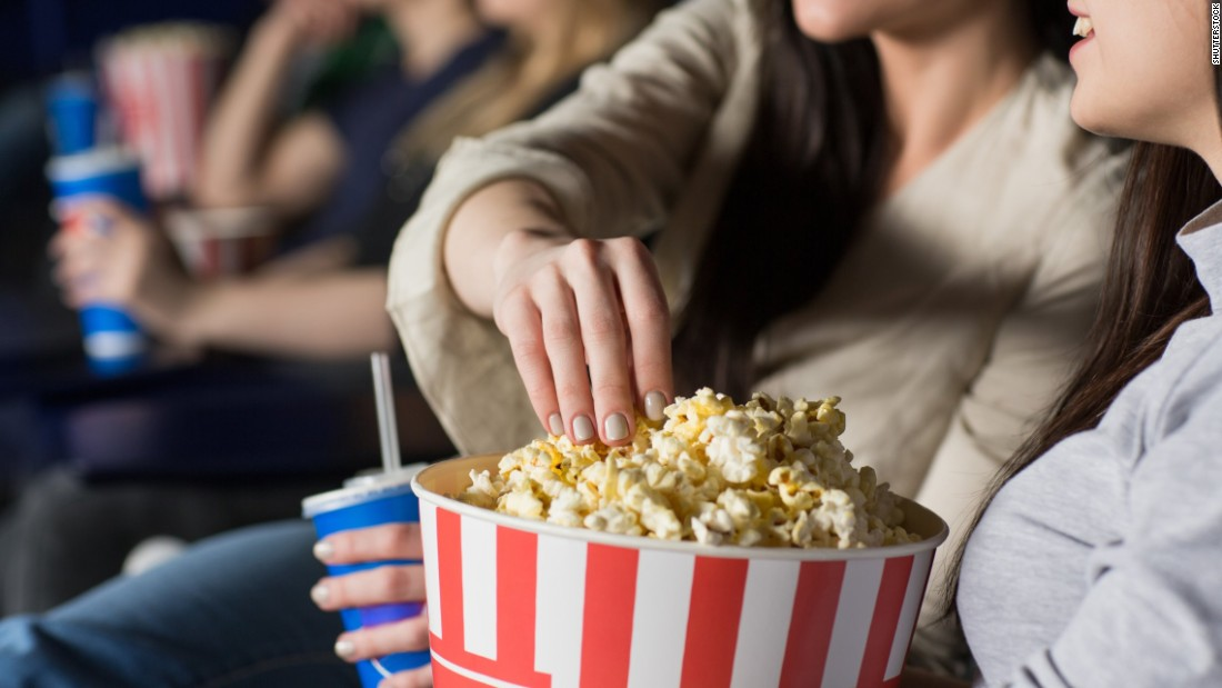 Very little of the bacteria on hands was found to transfer to the popcorn in a shared bowl. More hand bacteria are transferred when you take a mouthful of popcorn, though.
