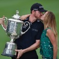 Jimmy Walker US PGA trophy Erin Walker
