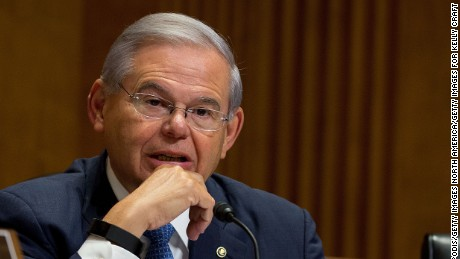 WASHINGTON, DC - JULY 20: Senator Bob Menendez at Capitol Hill on July 20, 2017 in Washington, DC.  (Photo by Tasos Katopodis/Getty Images for Kelly Craft)