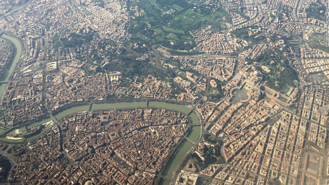 An aerial view of Rome. The Italian capital is scheduled to host its first Formula E race in April 2018.