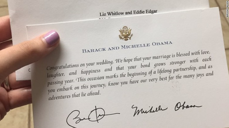 it turns out obamas office responded to wedding invitations throughout his eight years in office - What To Say On Wedding Invitations