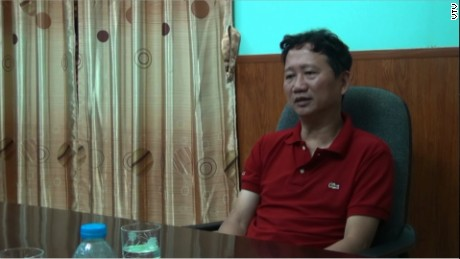Vietnamese asylum seeker Trinh Xuan Thanh as he appeared on state media Thursday following his return to Hanoi