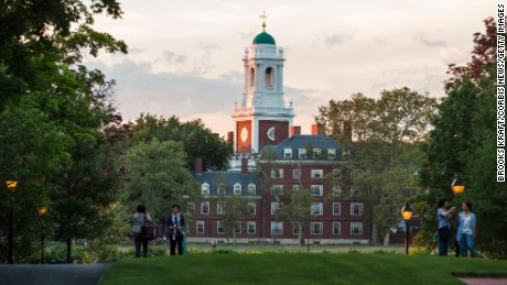 BOSTON, MA - JULY 26: The campus of Harvard Business School and Harvard University,  July 26, 2016 in Boston, Massachusetts.   Harvard,  one of the most prestigious business schools in the world,  emphasizes the case method in the classroom. (Photo by Brooks Kraft/Corbis via Getty Images)