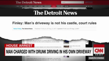 Driving drunk - in his own driveway_00001201