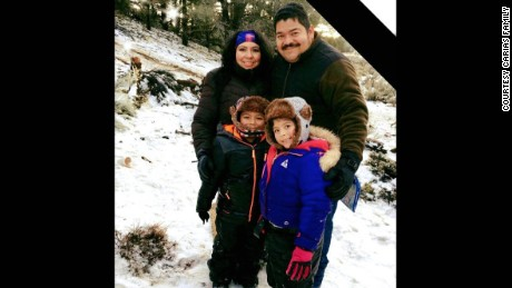 Noe and Vicky Carias and their two children.