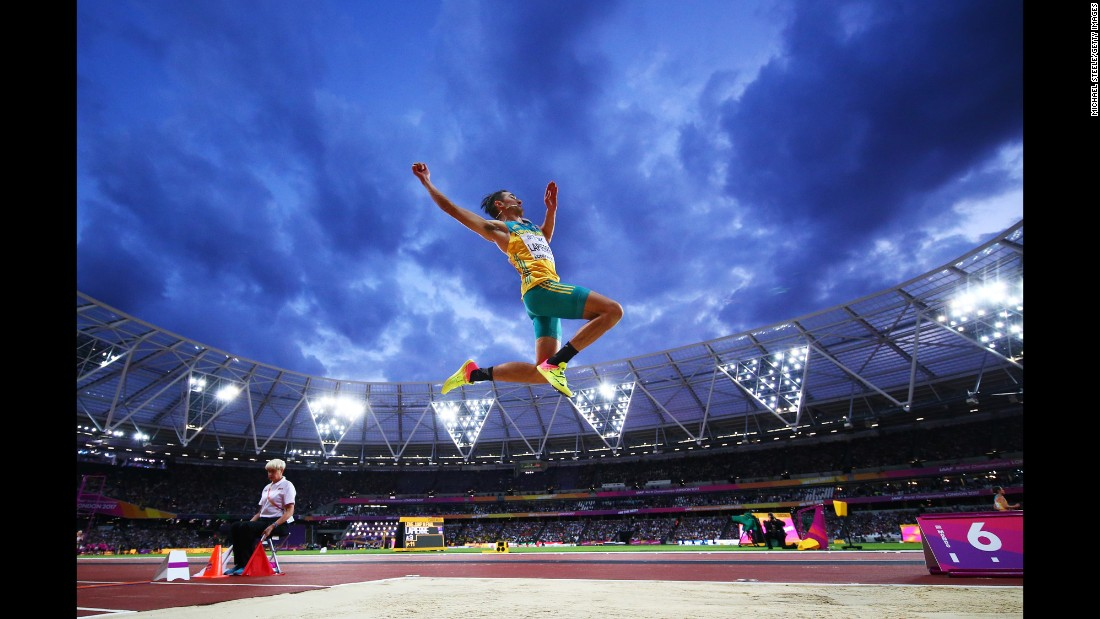 "Australian long jumper Fabrice Lapierre competes at the World Championships on Saturday, August 5. The track meet is taking place at London Stadium through August 13. <a href=""http://www.cnn.com/2017/08/01/sport/gallery/what-a-shot-sports-0801/index.html"" target=""_blank"">See 29 amazing sports photos from last week</a>"
