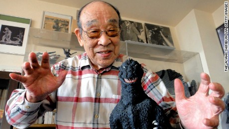 Actor Haruo Nakajima photographed on December 3, 2013 in Japan.