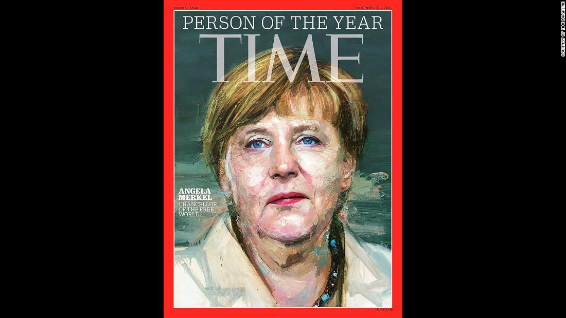 "Merkel was named Time magazine's Person of the Year in 2015. Time Editor-at-Large Karl Vick described her as ""the de facto leader of the European Union"" by virtue of being leader of the EU's largest and most economically powerful member state. Twice that year, he said, the EU had faced ""existential crises"" that Merkel had taken the lead in navigating -- first the Greek debt crisis faced by the eurozone, and then the ongoing migrant crisis."