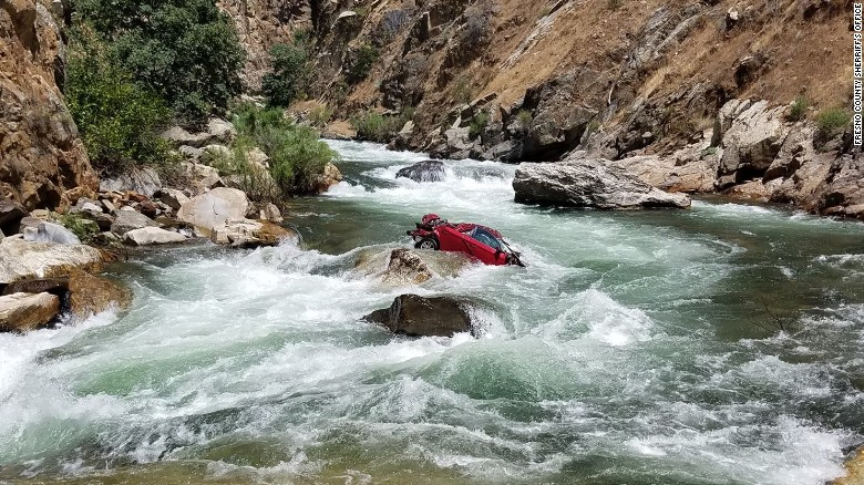 Car in river may belong to missing students