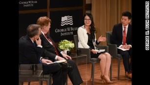 Grace Jo speaks at the George W. Bush Institute.