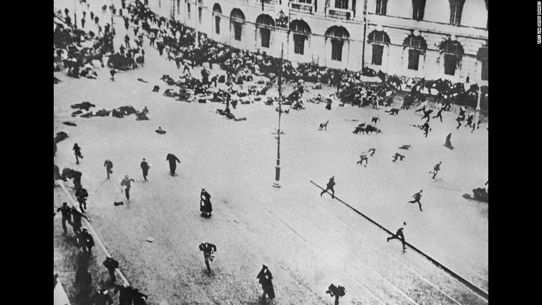 The aftermath of armed demonstrations, also know as July Days, against the Russian Provisional Government on Nevsky Avenue in Petrograd, Russia.