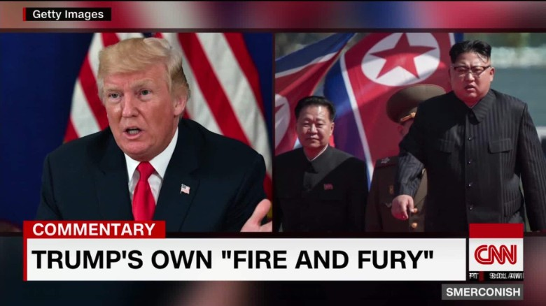 Comment: Trump's own 'Fire and fury'_00002311