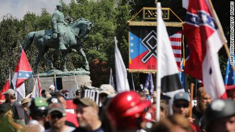 Violence erupts at a white nationalist rally in Charlottesville, Virginia