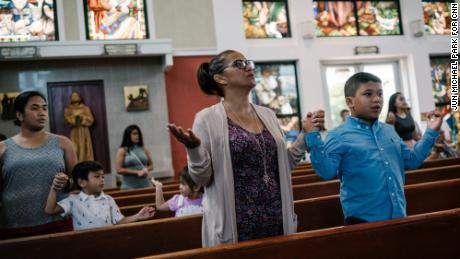 Local residents attend Sunday Mass on August 13 at Dulce Nombre de Maria Cathedral-Basilica in Hagatña, Guam.