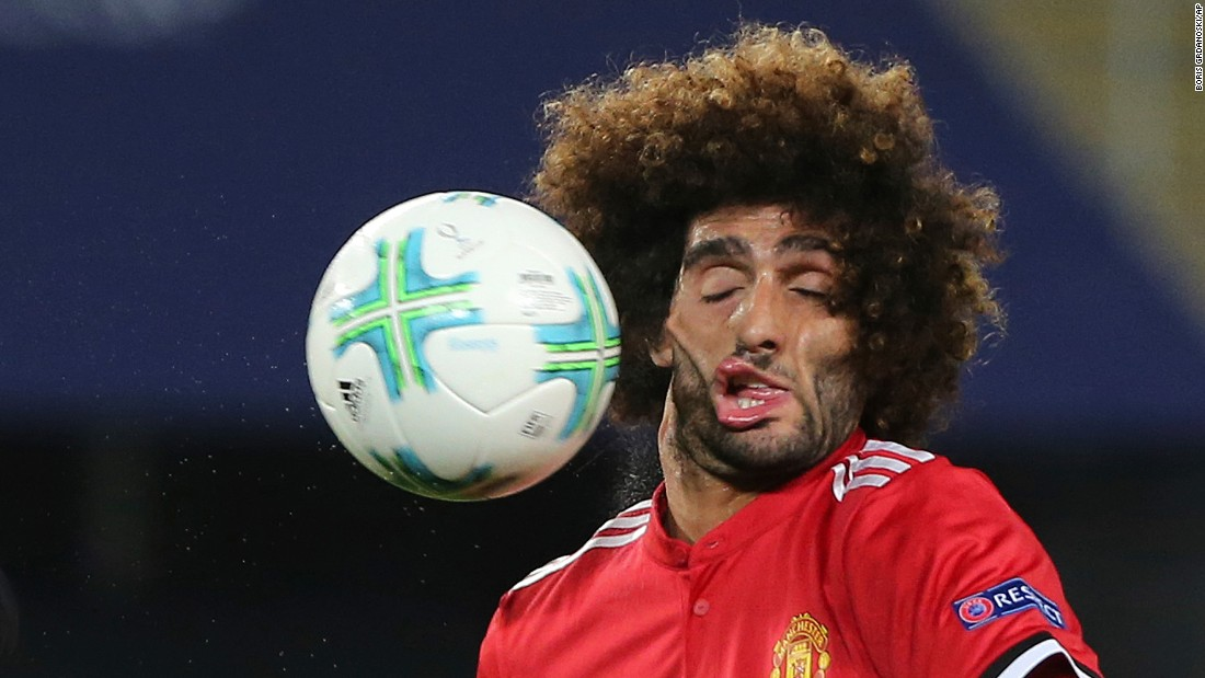 "Marouane Fellaini, a midfielder for Manchester United, gets hit by the ball during the UEFA Super Cup on Tuesday, August 8. Fellaini was a good sport about the photo, which went viral after the match. ""Thank you to everyone who posted & sent me this,"" <a href=""https://twitter.com/Fellaini/status/895047548691517440"" target=""_blank"">he tweeted,</a> along with several ""tears of joy"" emojis."