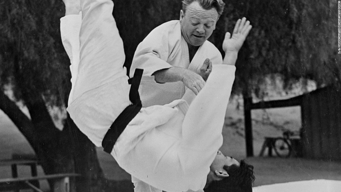 The American actor James Cagney was a judo black belt and performed some of his moves in the film Blood on the Sun.