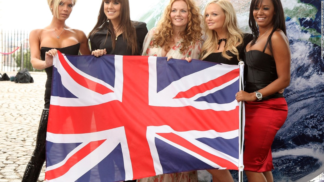 Former Spice Girl Melanie Chisholm (second from left) has been seen on the judo mat -- until she required knee surgery when injured in a celebrity contest against Miss World Azra Akin.