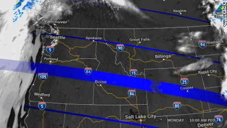 Solar Eclipse Weather Forecast What To Expect CNN - 10 day weather map of western us