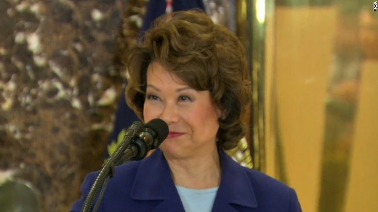 Elaine Chao: I stand by my man ... both of them