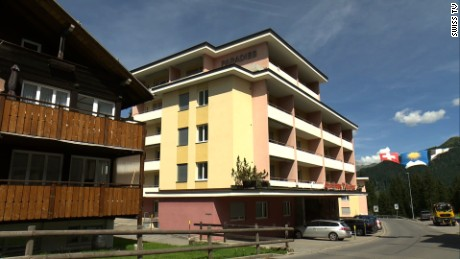 Paradies hotel in the Swiss resort village of Arosa