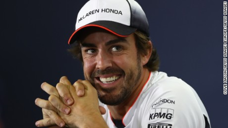 MONTMELO, SPAIN - MAY 12: Fernando Alonso of Spain and McLaren Honda laughs in the Drivers Press Conference during previews to the Spanish Formula One Grand Prix at Circuit de Catalunya on May 12, 2016 in Montmelo, Spain.  (Photo by Clive Mason/Getty Images)