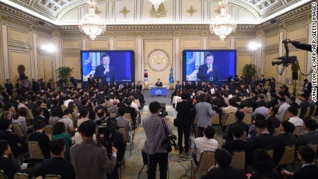 Moon told local and international media there would be no war on the Korean peninsula.