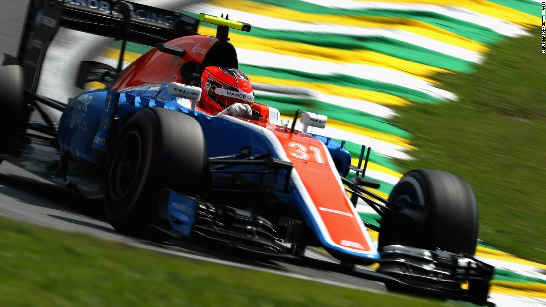 Despite having an uncompetitive car, Ocon finished 12th -- his highest placing in 2016 -- at the Brazilian Grand Prix at Interlagos.