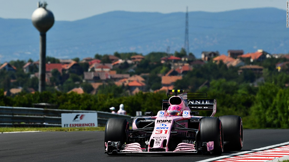 The young Frenchman has finished in the points in 10 out of 11 races this year for his Force India team.