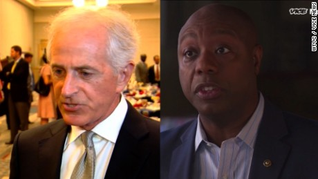Tim Scott Bob Corker GOP senators criticize Trump lead_00000000