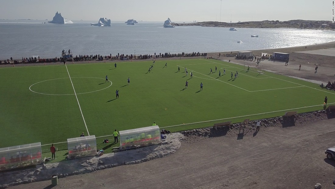 This is the 47th year of the Greenlandic football championships and only the second year the tournament has been played on artificial turf.