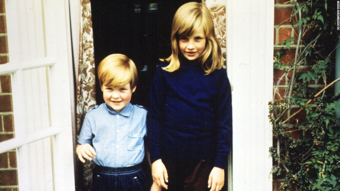 Diana with her younger brother Charles Spencer in 1968, a year after their parents' divorce.
