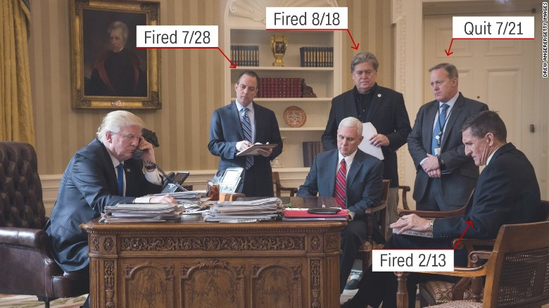 Trump's administration departures, in a photo