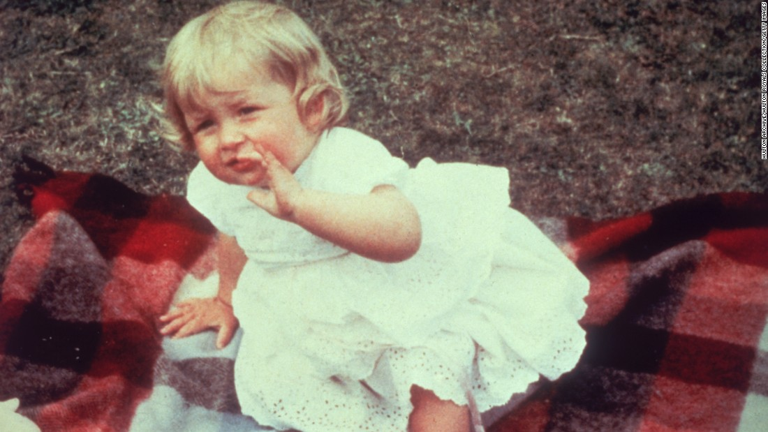 Diana Frances Spencer in 1962 on her first birthday at Park House on the royal Sandringham estate, where she grew up.