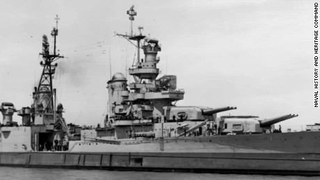 The USS Indianapolis sank in the Pacific Ocean after an attack by Japan in 1945.