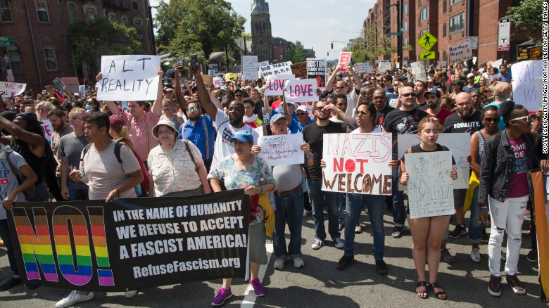 Thousands march in Boston in protest