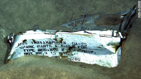 A crew in August found the wreckage of the USS Indianapolis deep beneath the surface of the Pacific Ocean.