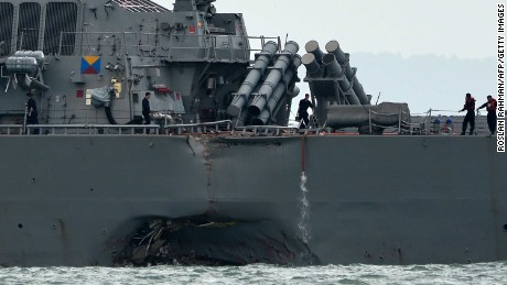 A spate of US Navy warship accidents in Asia since January