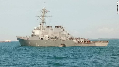 Navy wants answers after warship, merchant vessel collide