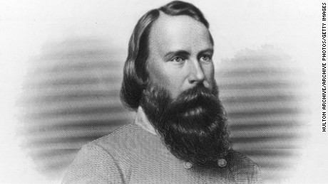 Where are the monuments to Confederate Gen. James Longstreet?