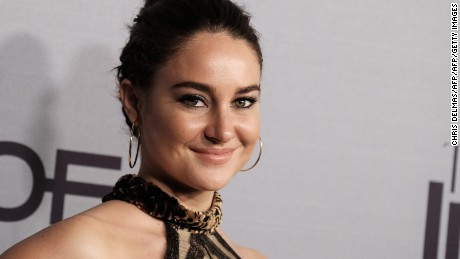 Shailene Woodley says she is engaged to NFL quarterback Aaron Rodgers.