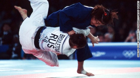Tani only needed 36 seconds to win the Sydney 2000 Olympic final, beating Russia's Lyubov Bruletova by ippon.
