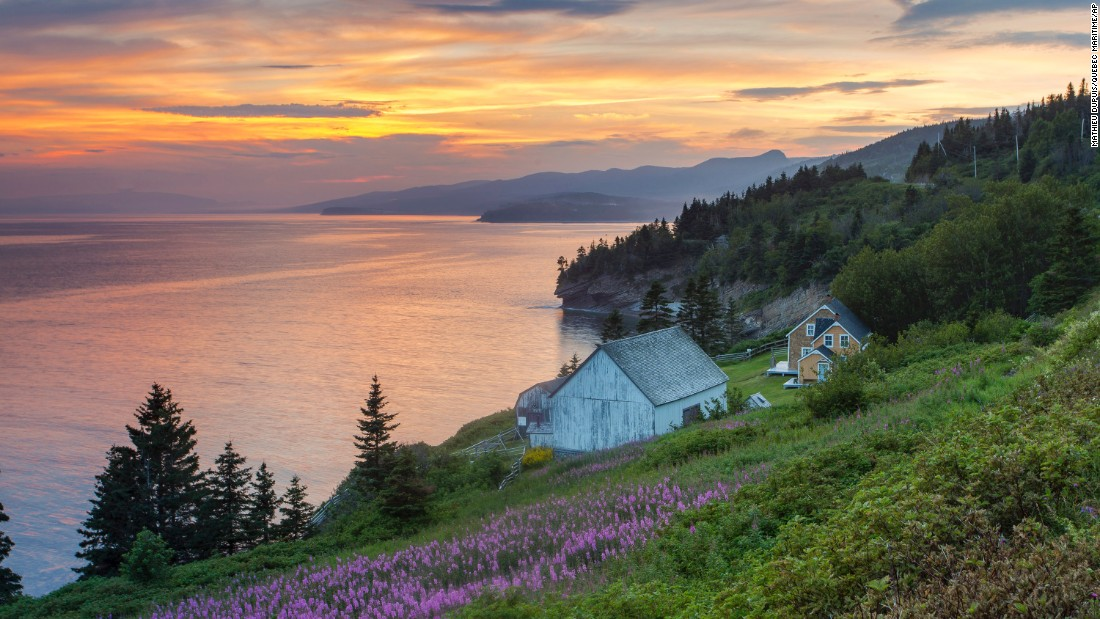 <strong>Québec, Canada: </strong>The remote Gaspe Peninsula is known for its pine forests, impressive cliffs as well as 14 lighthouses.