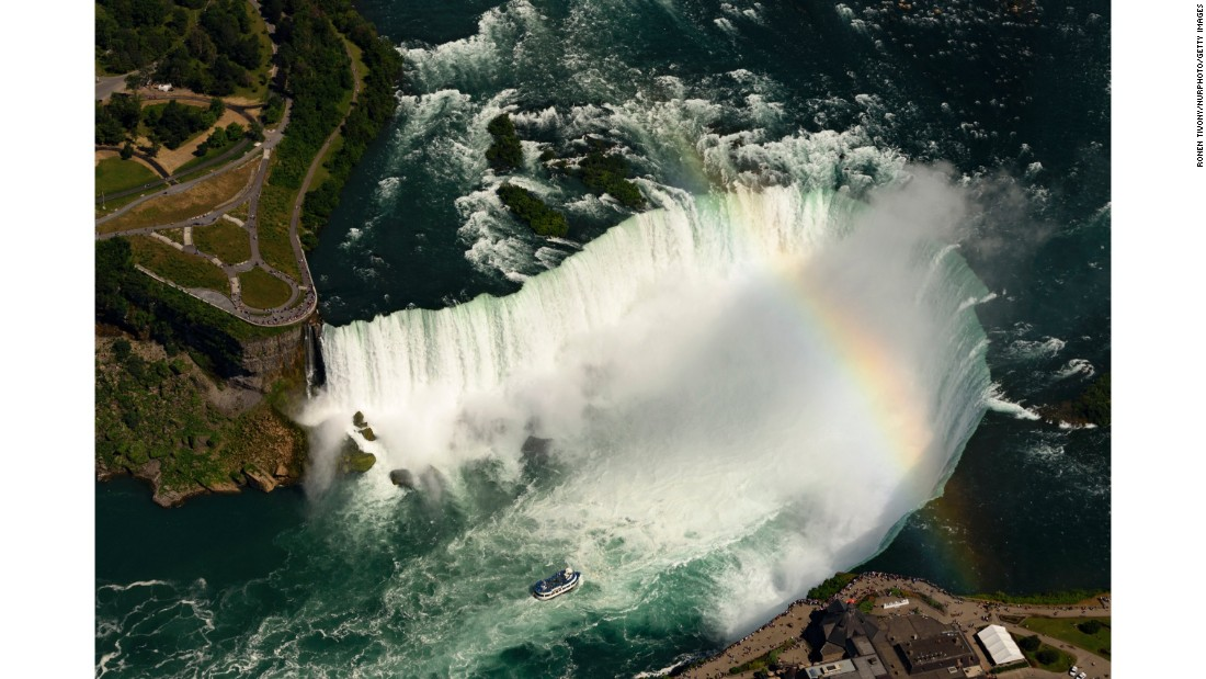 <strong>Ontario, Canada: </strong>Approximately 12 million people visit Niagara Falls each year. The natural phenomenon consists of three waterfalls which span the international border between the US and Canada.<br />