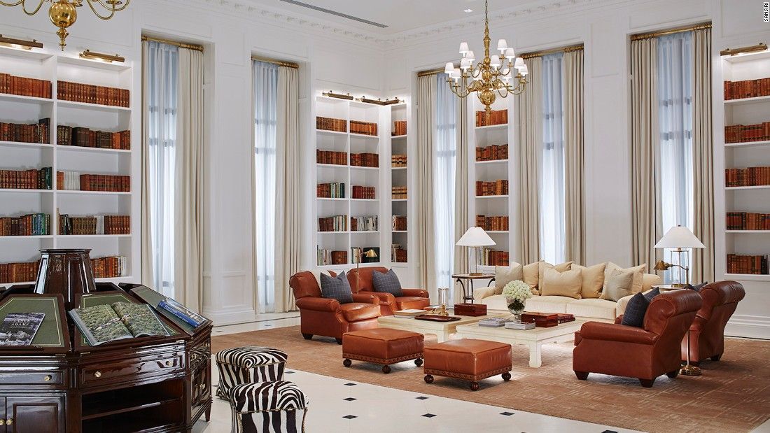 The interiors were handled by New York designer Anne Carson, who used Ralph Lauren Home pieces to style the space.